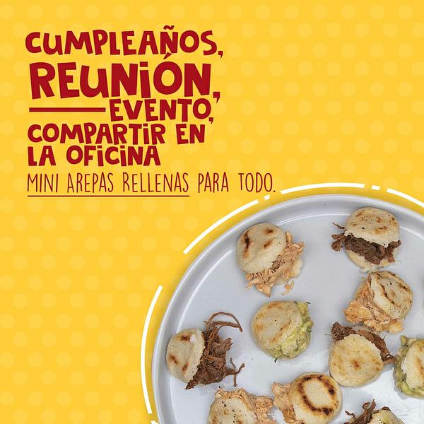 Arepas rellenas en Bogotá Mini Arepas Rellenas